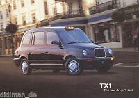 London Taxi TX1 Prospekt 1988 8/88 GB brochure Autoprospekt Broschüre prospectus