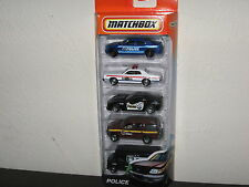 2011 Matchbox Police 5 Pack Dodge Charger Monaco Corvette Expedition SWAT