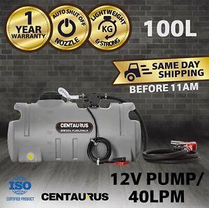 Portable Diesel Fuel Tank With Pump 100 Litre Poly Pod Ute Centaurus