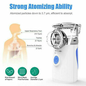 Portable Nebulize Ultrasonic Inhaler Humidifiers Handheld For Kids & Adults