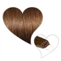 Easy Flip EXTENSIONES en marrón dorado #07 40cm 90 GRAMOS CABELLO NATURAL TU