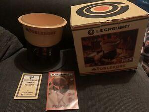 Vintage Le Creuset Ltd Ed Toblerone Cast Iron Fondue Set Bn In Box 1970s Party