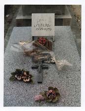 PHOTO ANCIENNE COULEUR Tombe de Jane SEBERG 1938-1979 Tirage 1988 Kodak