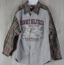 Tommy Hilfiger Boy's 7 Shirt Button Front Vintage 90's Football Print