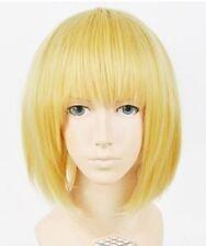 Japan Anime Attack on Titan Armin Arlart Short Dark Blonde Cosplay Wig+Gift