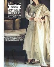 Beautiful Chanderi Silk Kurta with palazzo readymade suit pakistani salwar kamez