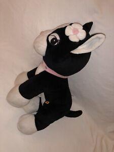 "Build a Bear Rebecca Bonbon Hello Kitty Dog Black White W/ Flower 14"" Plush"