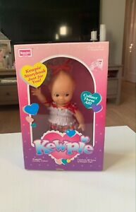 1993 Cute Kewpie Baby Doll With Overalls And Kewpie Shoes