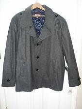 NEW MICHAEL Michael Kors Men's Wool Peacoat Coat Dress Jacket Gray XXL 2XL NWT