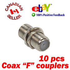 10 Coaxial Cable Joiner Coupler F Connector female to female Extend Coax cable