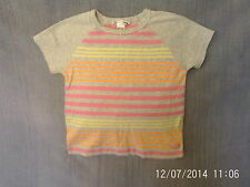 Girls 4-5 Years - Grey T-Shirt with Colourful Stripes - H&M