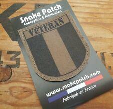 """snake patch - FRANCE OPEX """" VETERAN """" biker ancien combattant OPEX KAKI BV OD"""