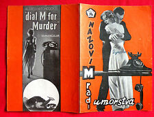 DIAL M FOR MURDER 1954 ALFRED HITCHCOCK GRACE KELLY MILLAND EXYU MOVIE PROGRAM 2