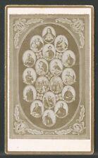 Holy card antique foto albumina Compañia de Jesus santino image pieuse estampa