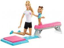 Barbie Flipping Fun Gymnast Set Balance Beam Dolls Play Set Gymnastics Gymnast