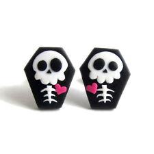 Halloween Costume For Girls Kids Coffin Skeleton Skull Funny Earrings Jewelry