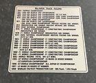 1998 Mclaren F1 Track Record Dedication Plate Emblem Plaque Rare Collectible
