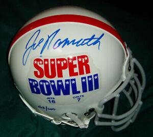Joe Namath autographed authentic Sharco Super Bowl III mini helmet COA