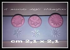 stampi, stampini silicone fimo,mold, tris fiocchi di neve