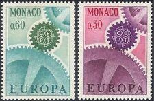 Monaco 1967 Europa/CEPT/Cogwheels/Postal Co-operation 2v set (n43739)