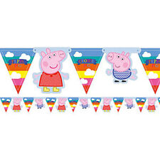 PEPPA PIG BUNTING BANNER ROOM BIRTHDAY DECORATION