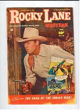 Fawcett ROCKY LANE WESTERN #38 June 1952 vintage western comic VG condition