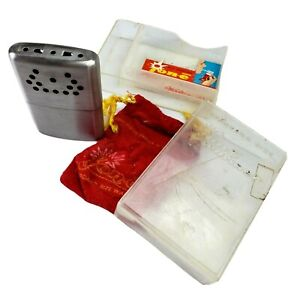 Jon-E Hand Warmer Aladdin Labs Handwarmer Cigarette Lighter Pouch Case VINTAGE