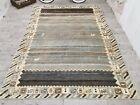Pictorical Animal Print Turkish Wool Antique Vintage Rug Handmade Carpet 7x9 ft