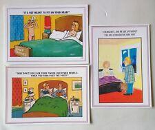 3 X Comic Seaside Postcards By Europa, #a19