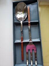 New listing Villeroy & Boch New Wave Salad Serving Set Oversized Spoon Fork Modernist Design