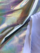 dance Lycra Spandex Metallic Iridescent Silver stretch fabric sold BTY 60 wide