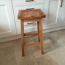 Solid Oak Bar Kitchen Stools with shaped top