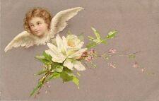 CARTE POSTALE POST CARD FANTAISIE ANGE FLEUR ANGEL FLOWER