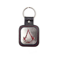 ASSASSIN'S CREED ROUGE LETHER METAL LOGO KEYCHAIN KEYRING BADGE PROMO COLLECTORS