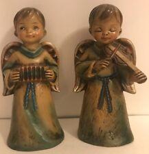 2 Vintage Boy Japan Choir Angels with Musical Instruments Original Sticker