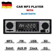 RETRO AUTORADIO BLUETOOTH FREISPRECH-EINRICHTUNG USB SD STEREO AUX MP3 1DIN DHL