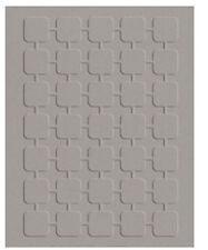 "Quickutz Embossing folder ""Retro Squares"" A2 card making"