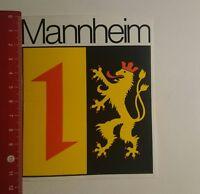Aufkleber/Sticker: Mannheim (20111683)