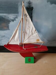 Star SY2 red sailing yacht. Made in Birkenhead,Cheshire,England.