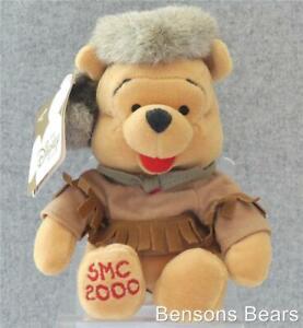 Disney Store Frontier Pooh With Davy Crockett Hat 2000 SMC Mini Bean Bag Plush