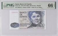 Spain 500 Pesetas 1979 / 1983 P 157 GEM UNC PMG 66 EPQ