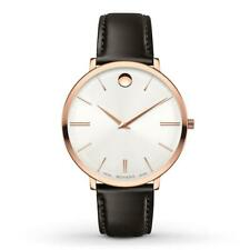 Movado 0607093 Rose Gold/Brown Leather Ultra Slim Women's Watch