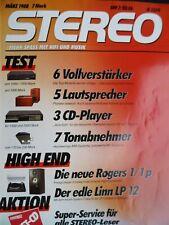STEREO 3/88,     JVC AX 1100,NAD 3300,SANSUI AU X 701,SONY TA F 700 ES,AKG P8 MF