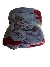 Blanket throw soft Plush fleece queen size Roses flowers Korean style new