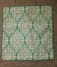 """PIER ONE IMPORTS 1 ACCENT PILLOW COVER 15""""×15"""" white and teal"""