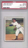 1950 Bowman baseball card #182 Sam Zoldak Cleveland Indians graded PSA 6
