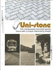 Paver Brochure - Uni-Stone - Concrete Paving Stone - c1976(AF06)