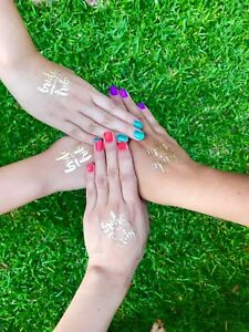 Gold Temporary Tattoos Bridal Party Hens Night Bride Tribe Team Bachelorette