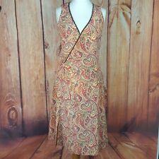 Karen Millen Size 12 Paisley Patterned Silk Wrap Look Dress