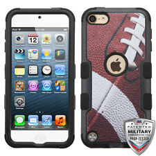 For iPod Touch 5th / 6th Gen Hybrid Tuff Case Cover Football + Screen Protector